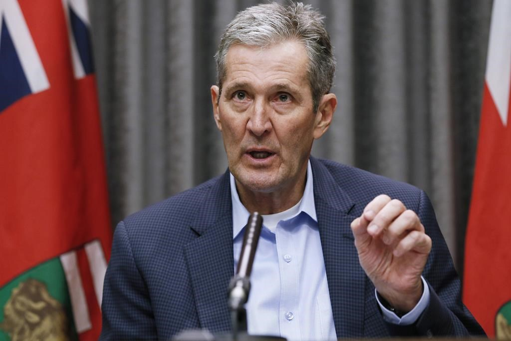 Manitoba Premier Brian Pallister big public events, including professional sports, won't be a priority as the province starts to reopen.