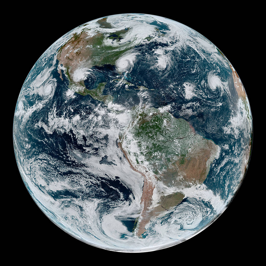 The Earth is shown from space on Sept. 4, 2019.