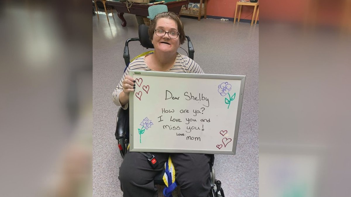 Residents at Saskatoon's Sherbrooke Community Centre are finding ways to stay connected.