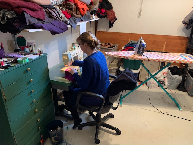 Lisa Wright, the Grand Theatre's head of wardrobe, spends her days making masks for the community.