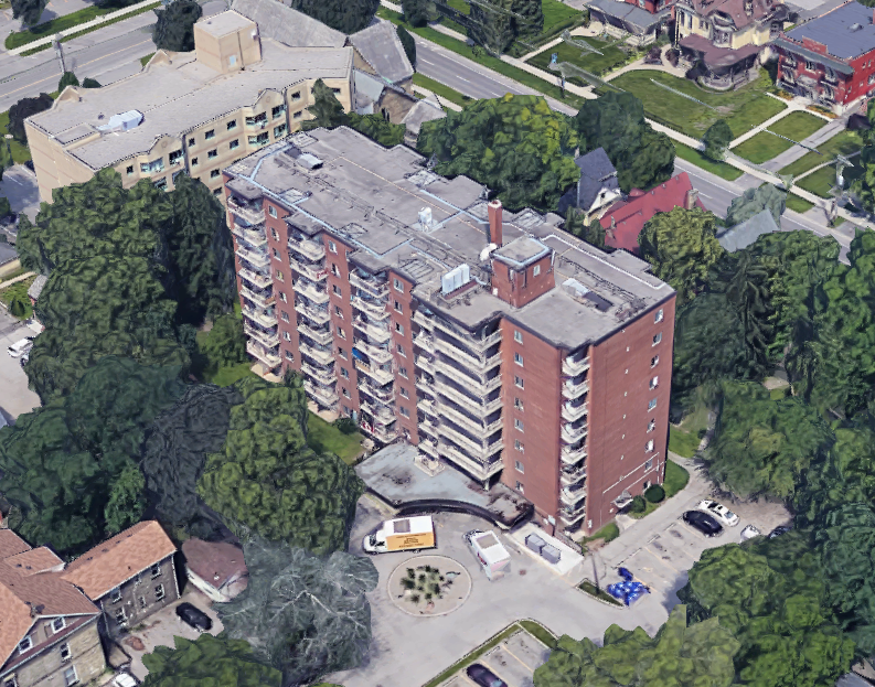 A rendering of 580 Dundas St. as seen on Google Earth.