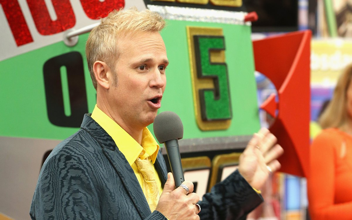 Host George Gray during a 'The Price is Right' event.