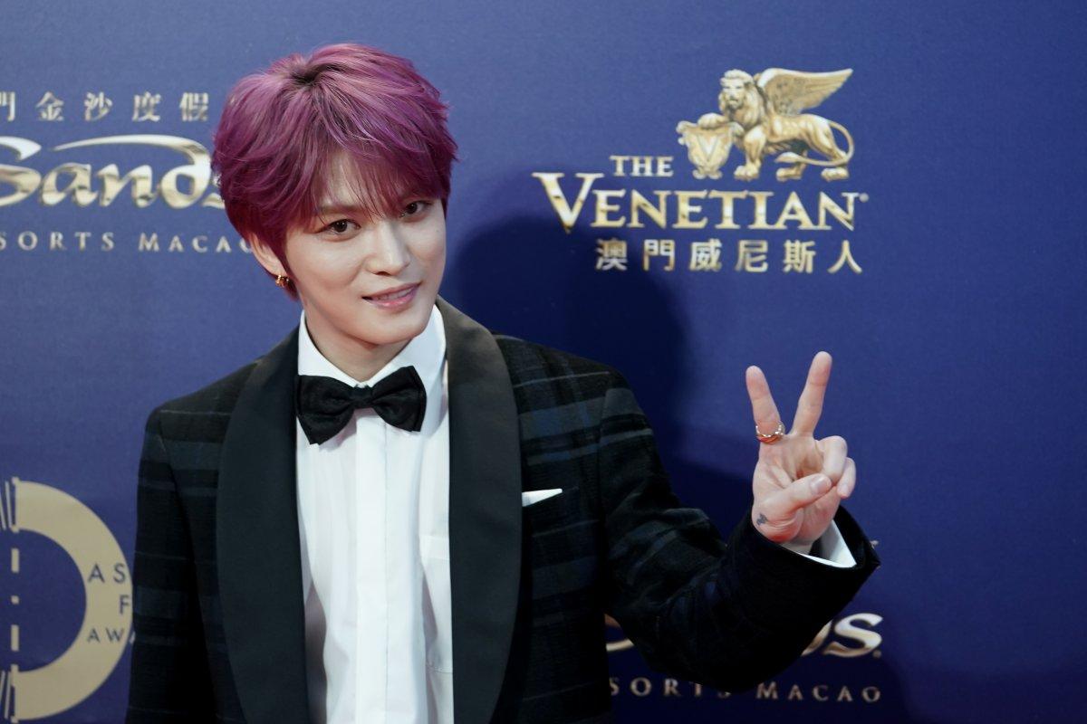 South Korea singer-actor Kim Jae-joong attends the 13th Asian Film Awards on March 17, 2019 in Hong Kong, Hong Kong.