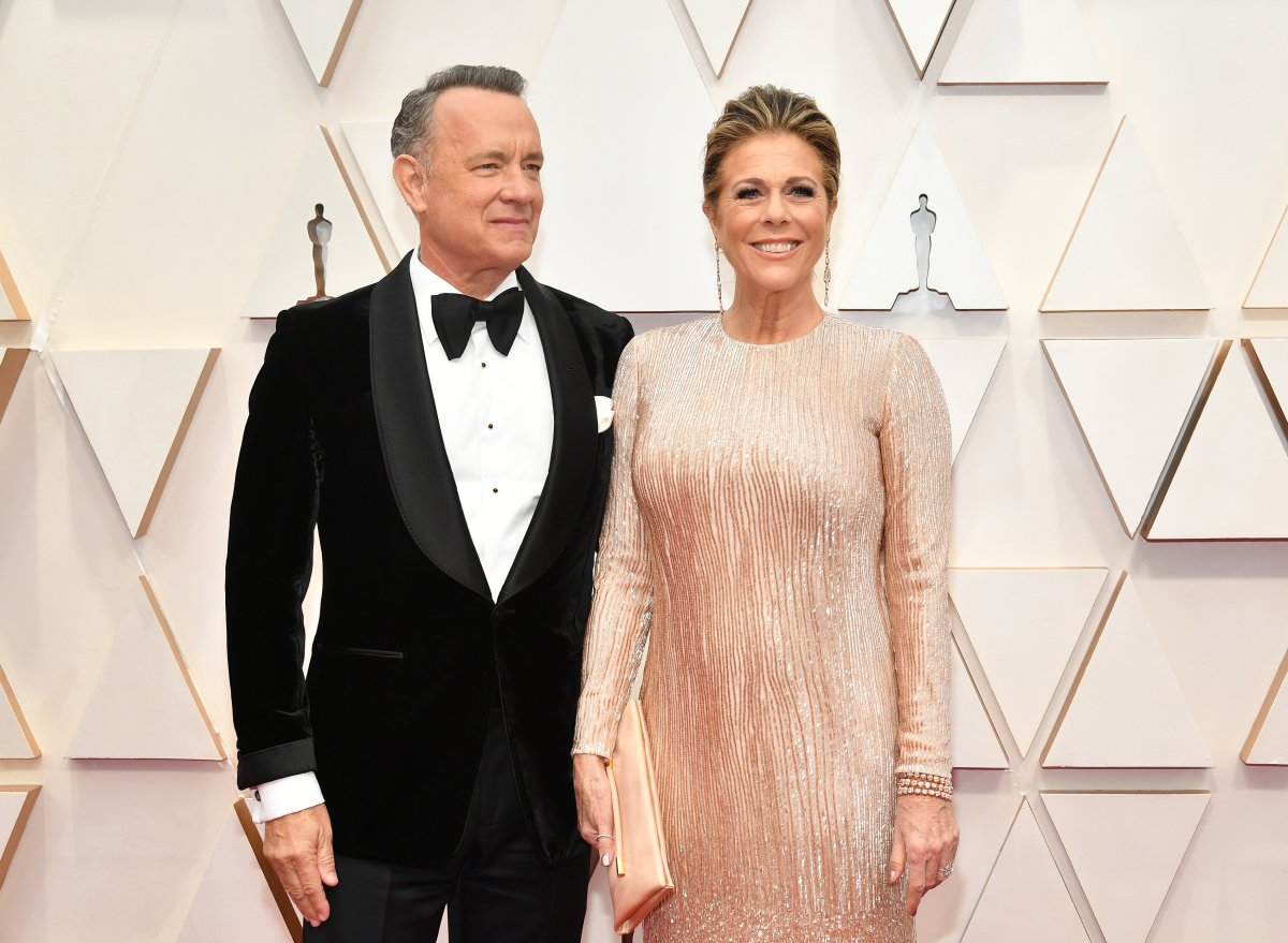 Tom Hanks and Rita Wilson attend the 92nd annual Academy Awards at Hollywood and Highland on Feb. 9, 2020 in Hollywood, Calif.