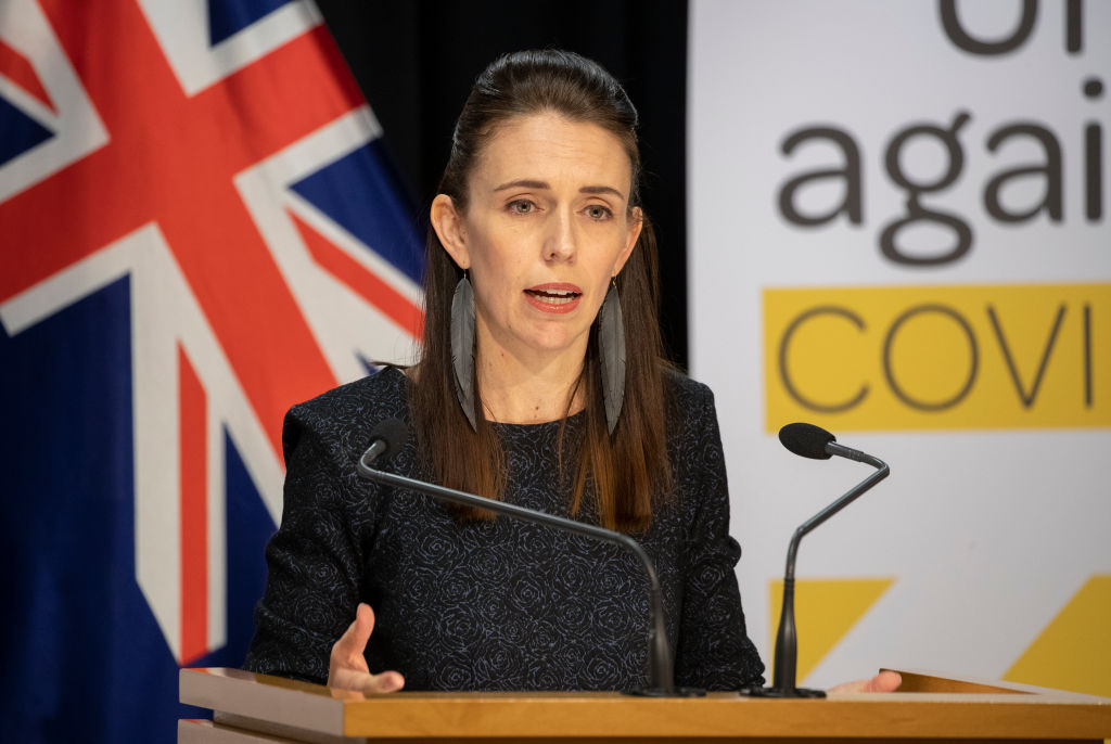 Prime Minister Jacinda Ardern during the update on the All of Government COVID-19 national response, at Parliament on April 15, 2020 in Wellington, New Zealand.