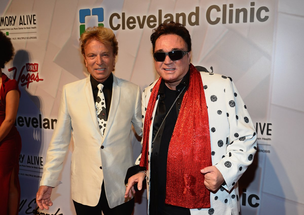 Siegfried Fischbacher (L) and Roy Horn attend the 18th annual Keep Memory Alive 'Power of Love Gala' benefit for the Cleveland Clinic Lou Ruvo Center for Brain Health honoring Gloria Estefan and Emilio Estefan Jr. at the MGM Grand Garden Arena on April 26, 2014 in Las Vegas, Nevada.
