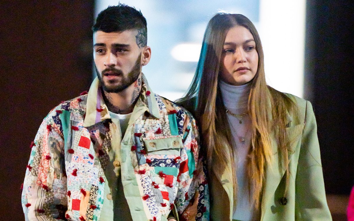 Zayn Malik (L) and Gigi Hadid are seen in NoHo on Jan. 11, 2020 in New York City.