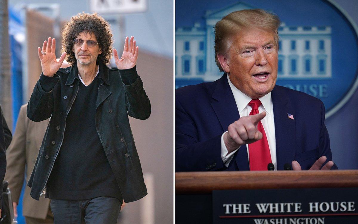 (L-R): Howard Stern and U.S. President Donald Trump.