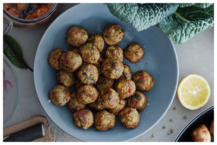 Ikea's meatballs are shown in this promotional image.