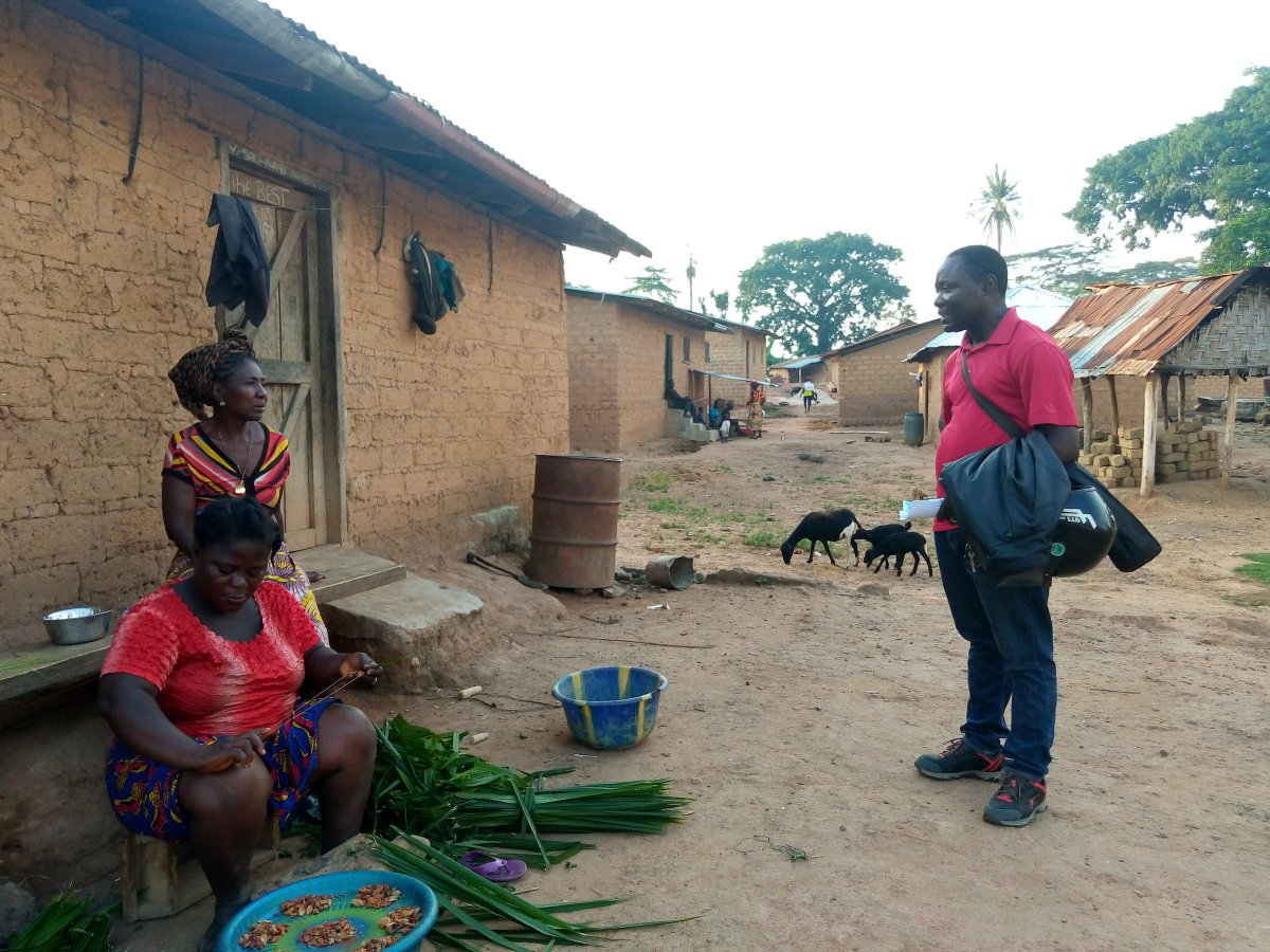 Going where government can't reach: one-on-one awareness campaigns conducted by a local journalist in Lofa, Liberia.