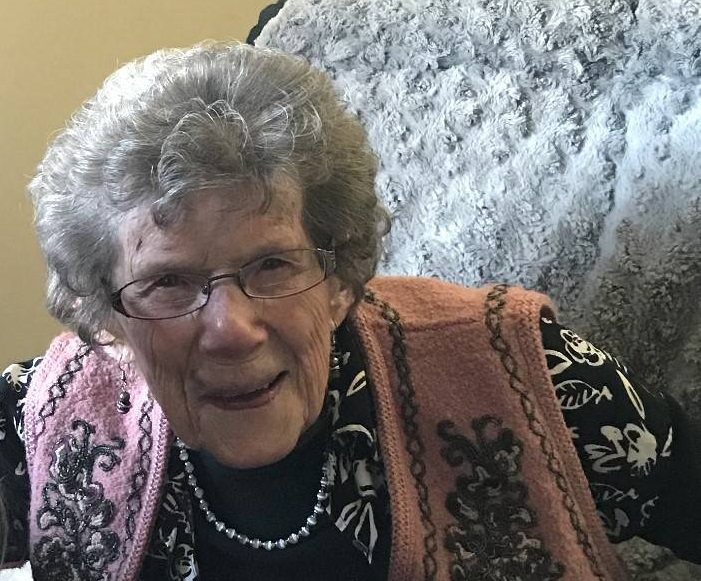 Jemima Westcott is shown in a family handout photo from last year at herpersonal care home in Brandon, Man. There was no social distancing in Jemima Westcott's small farm community in Lauder, Man., when the Spanish Flu hit over a century ago.