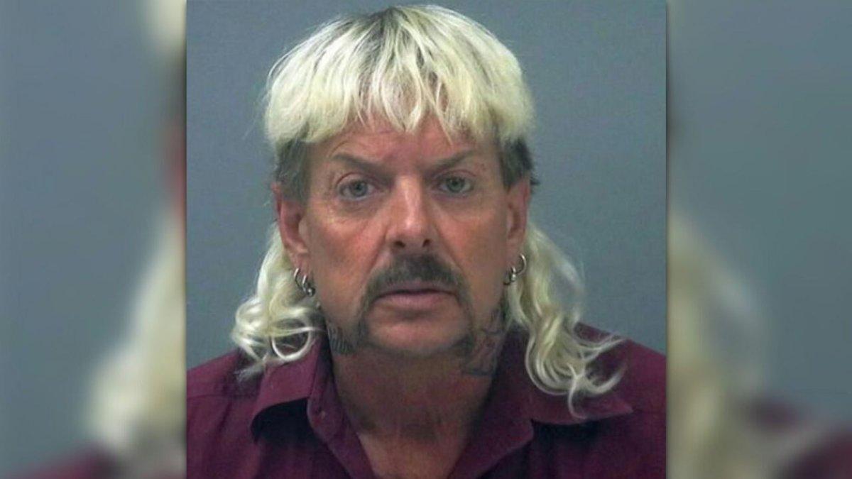 Joe Exotic seen in a Santa Rosa County Jail booking photo.