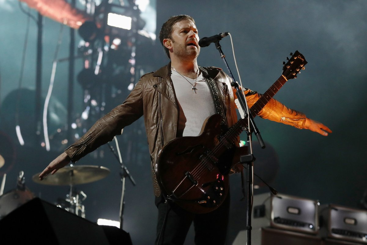 Caleb Followill of Kings of Leon performs at Del Mar Race Track on September 13, 2019 in Del Mar, Calif.