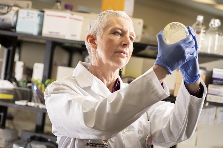 Lori Burrows professor of biocchemistry and biomedical Sciences, McMaster University.