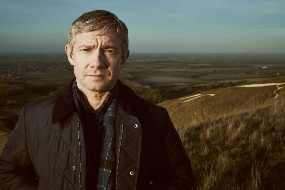 Martin Freeman is shown as Steve Fulcher in BritBox Canada's 'A Confession.'.