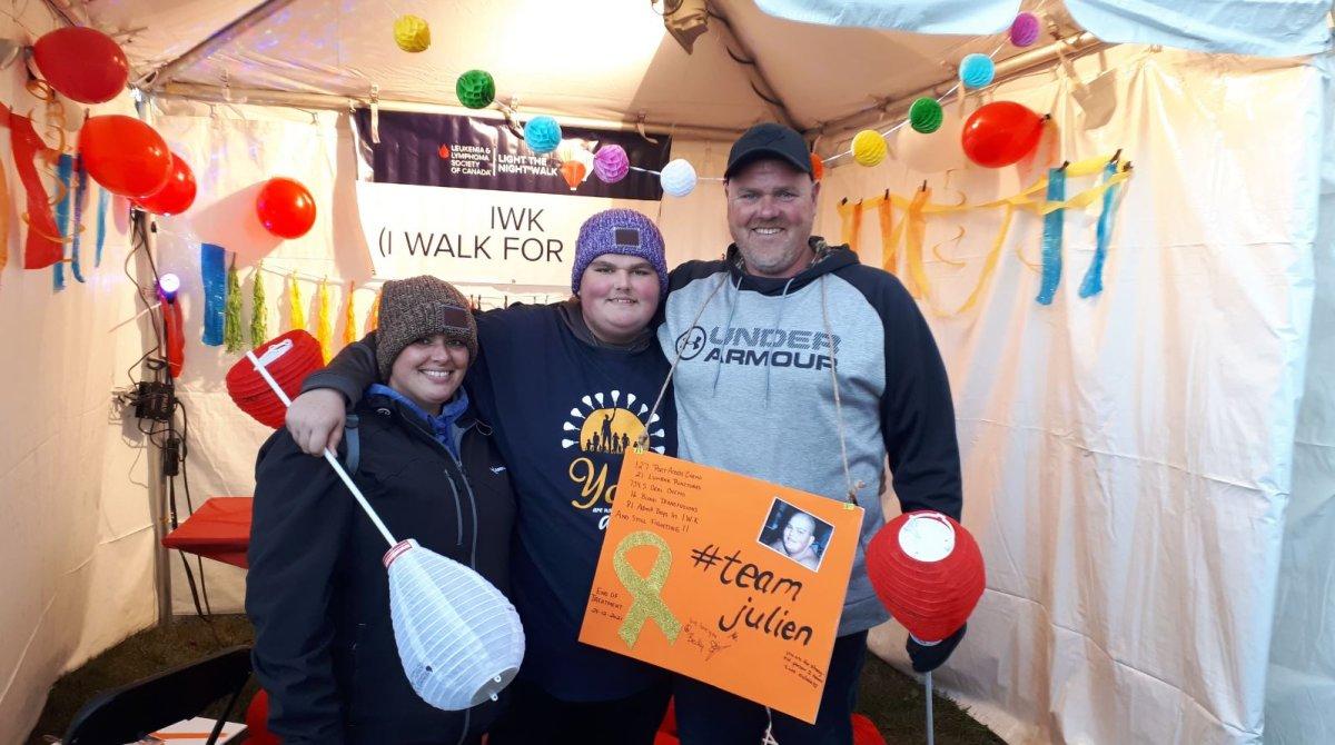 Elaine McGrath's son Julien was diagnosed with acute lymphoblastic leukemia in September 2018.