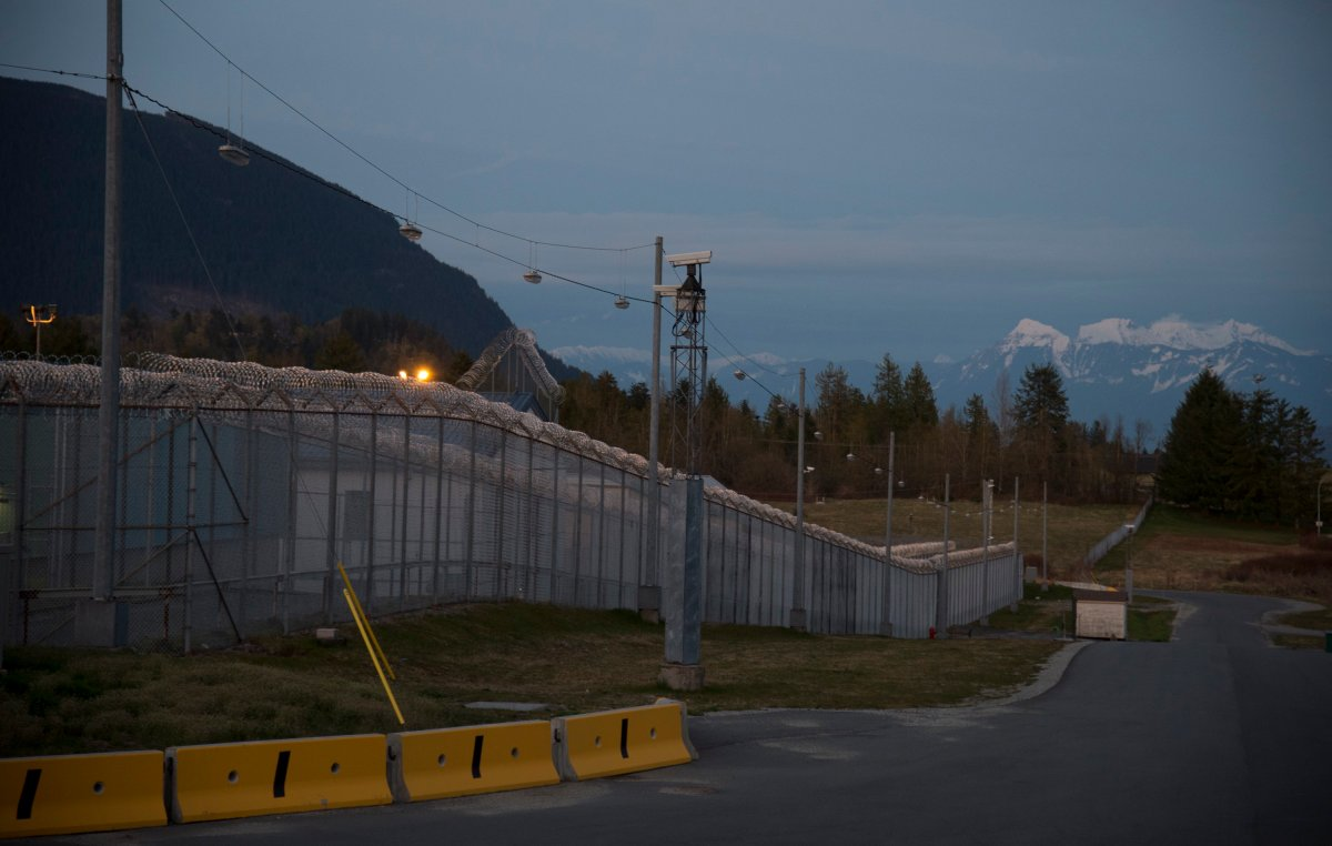 The Mission Correctional Institution in Mission, B.C. is pictured Tuesday, April 14, 2020. COVID-19 has infected several of the inmates and correctional officers at the facility.