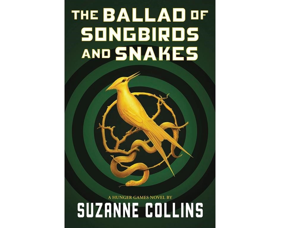 """This cover image released by Scholastic shows """"The Ballad of Songbirds and Snakes,"""" a Hunger Games novel by Suzanne Collins, to be published on May 19."""