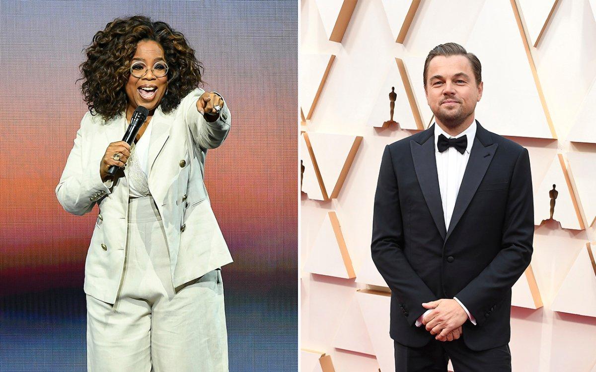 (L-R): Oprah Winfrey and Leonardo DiCaprio.
