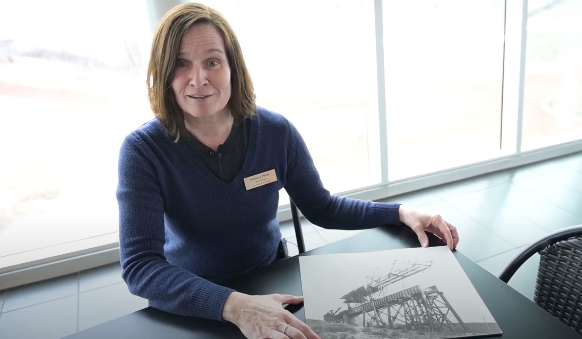 Rebecca Wild, educator at the Galt Museum & Archives in Lethbridge, Alta., tells her online audience about the history of the High Level Bridge on April 16, 2020.