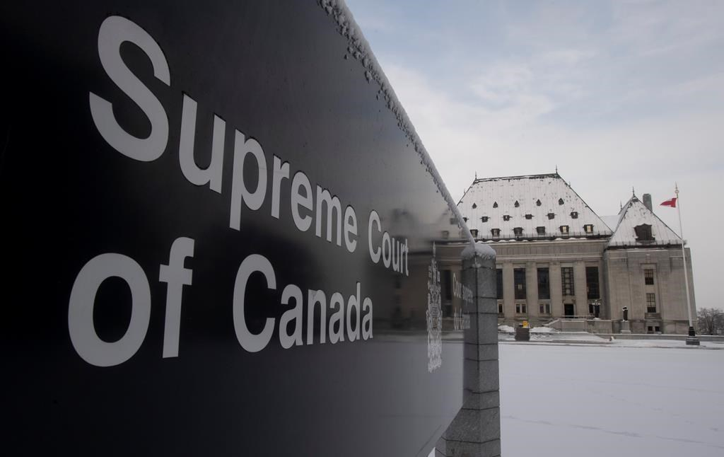 The Supreme Court of Canada is seen in Ottawa, Thursday January 16, 2020 in Ottawa. THE CANADIAN PRESS/Adrian Wyld.