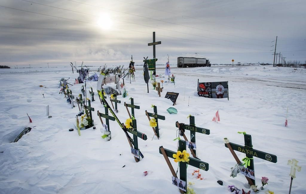 Sixteen people were killed and thirteen were injured when a semi-truck ran a stop sign at a rural intersection and hurtled into the path of the Broncos bus on April 6, 2018.