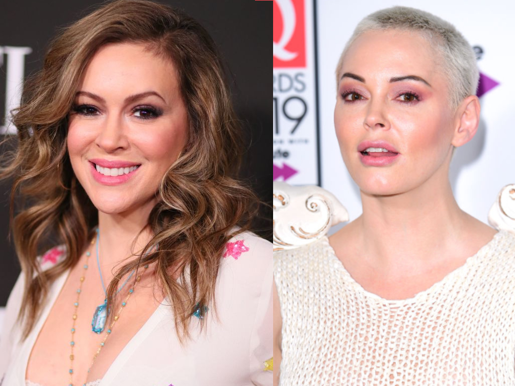 """Rose McGowan called Alyssa Milano a """"fraud"""" for supporting Joe Biden, the subject of a recently surfaced sexual assault allegation."""