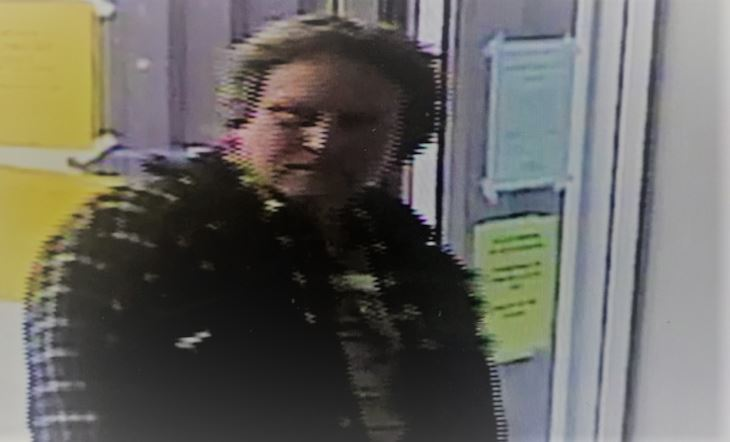 Police say video surveillance appears to show this man leaving a business in Dartmouth with a woman's wallet.