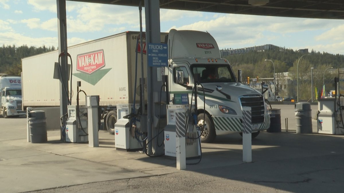 Chevron says its cardlocks will be offering free showers and washrooms for truck drivers.