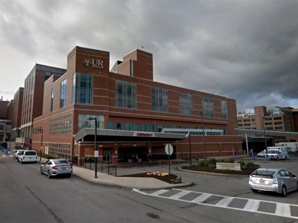 A man hid his COVID-19 symptoms to visit his wife in the maternity ward at UR Medicine in Rochester, N.Y.