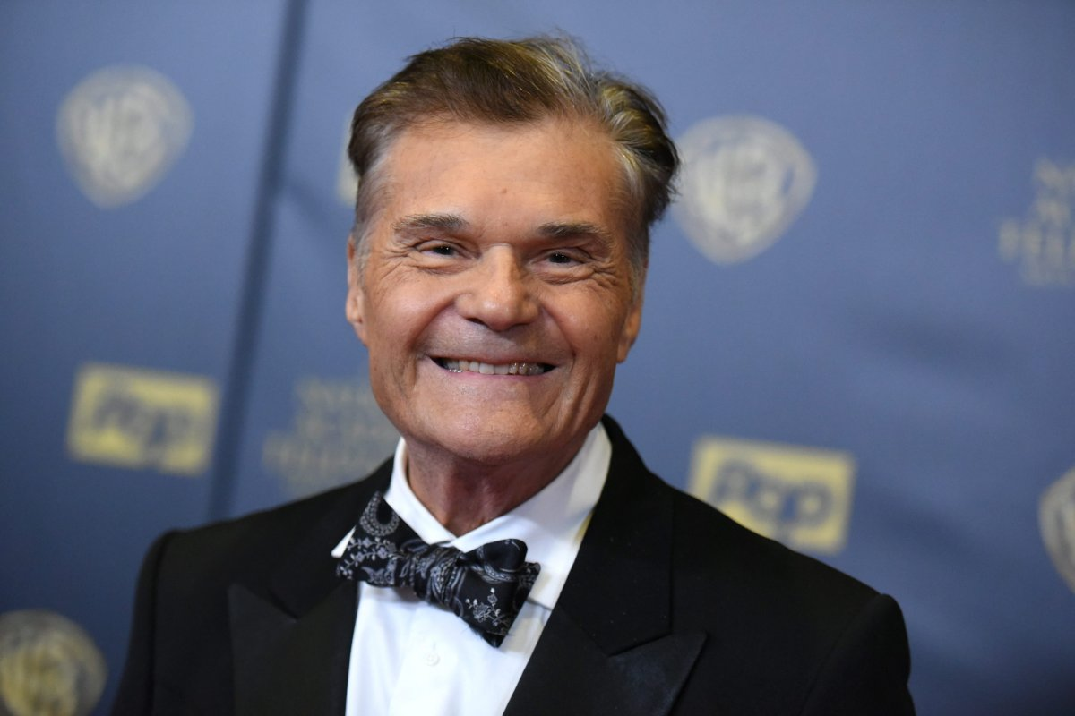 Fred Willard poses in the pressroom at the 42nd annual Daytime Emmy Awards at Warner Bros. Studios on Sunday, April 26, 2015, in Burbank, Calif.