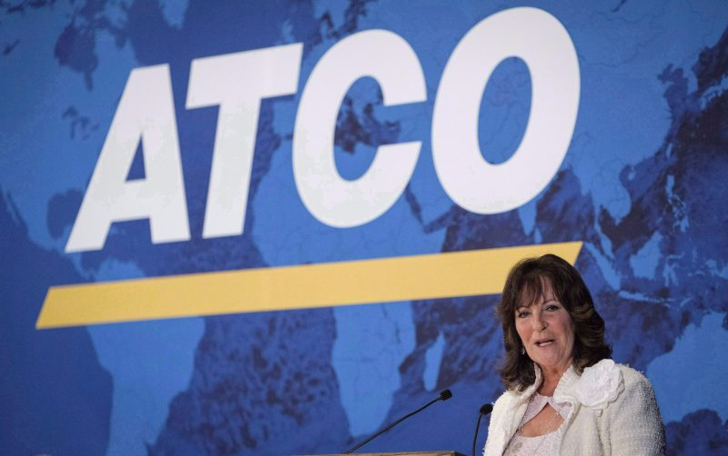 ATCO president and CEO Nancy Southern addresses the company's annual meeting in Calgary, Tuesday, May 15, 2018.