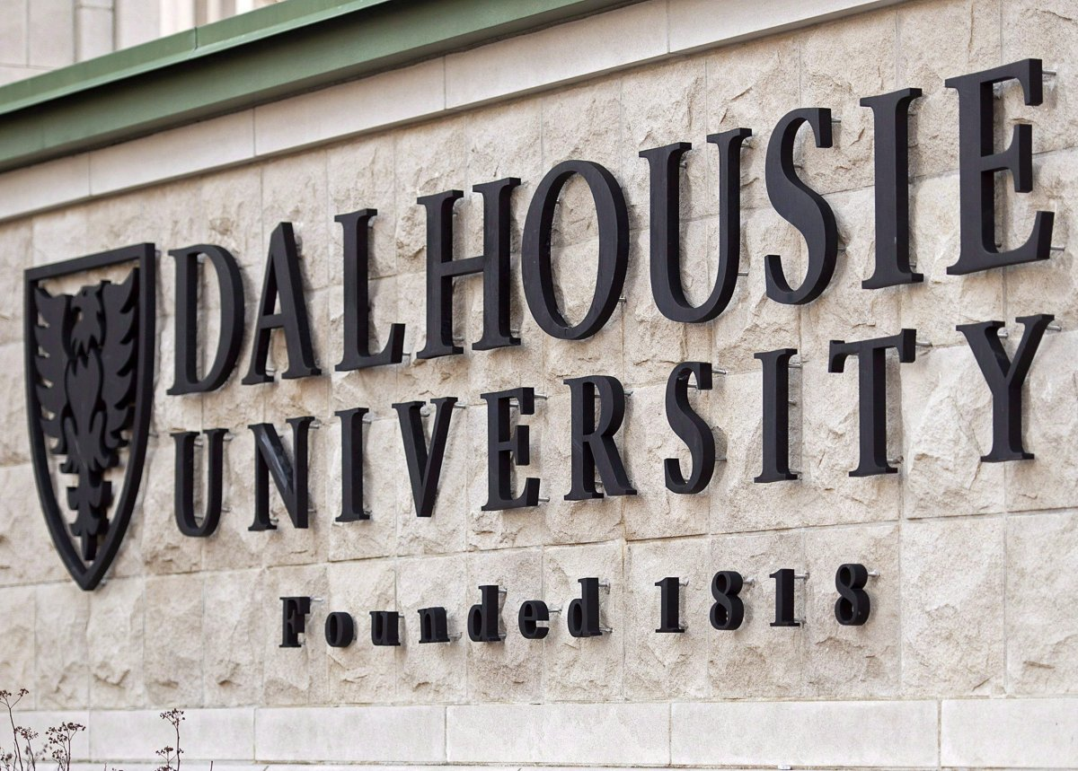 A Dalhousie University sign is seen in Halifax on January 6, 2015.