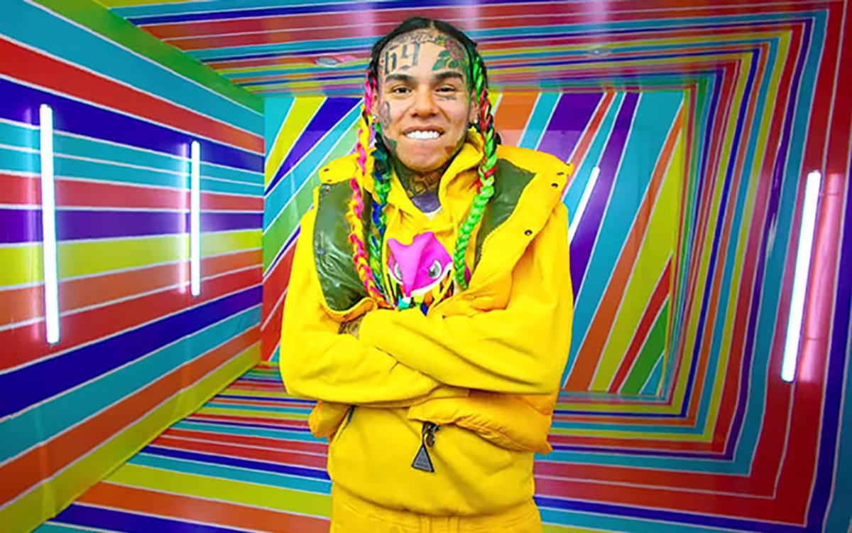 6ix9ine in his new music video for 'GOOBA.'.