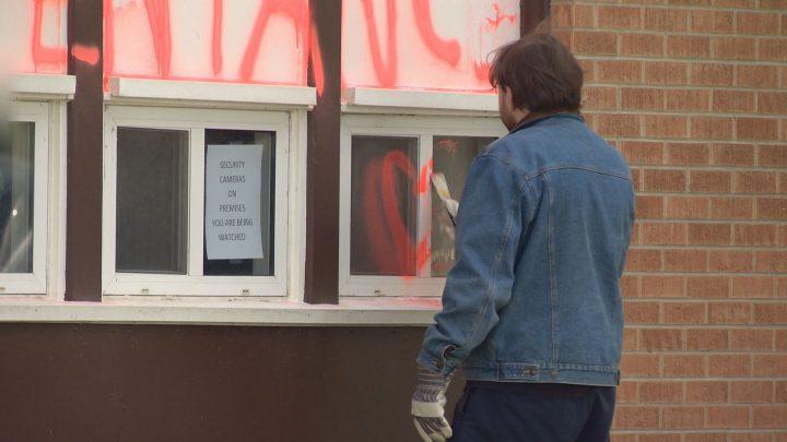 Crown says 'mental health concerns present' in Saskatoon church graffiti case