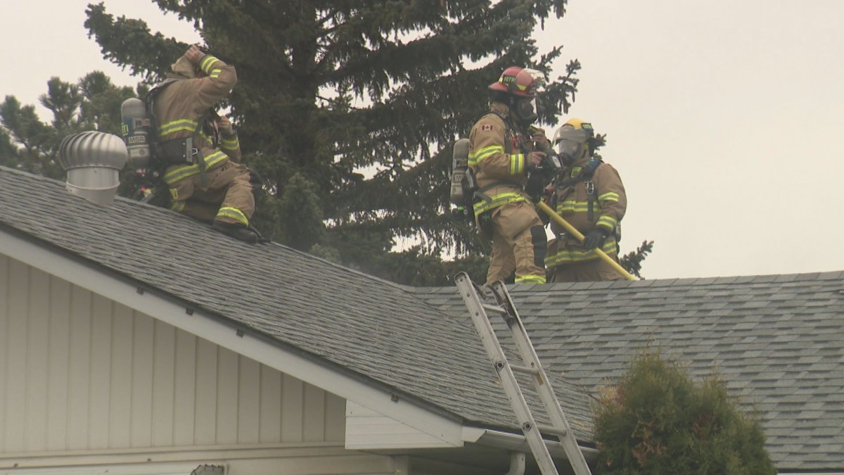 Fire crews responded to a blaze in Calgary's Thorncliffe neighbourhood on Friday, May 22, 2020.