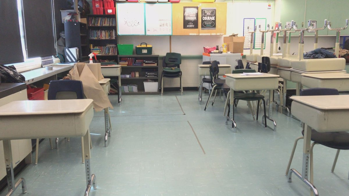Classrooms are empty, but most students are hoping to return to class in September.