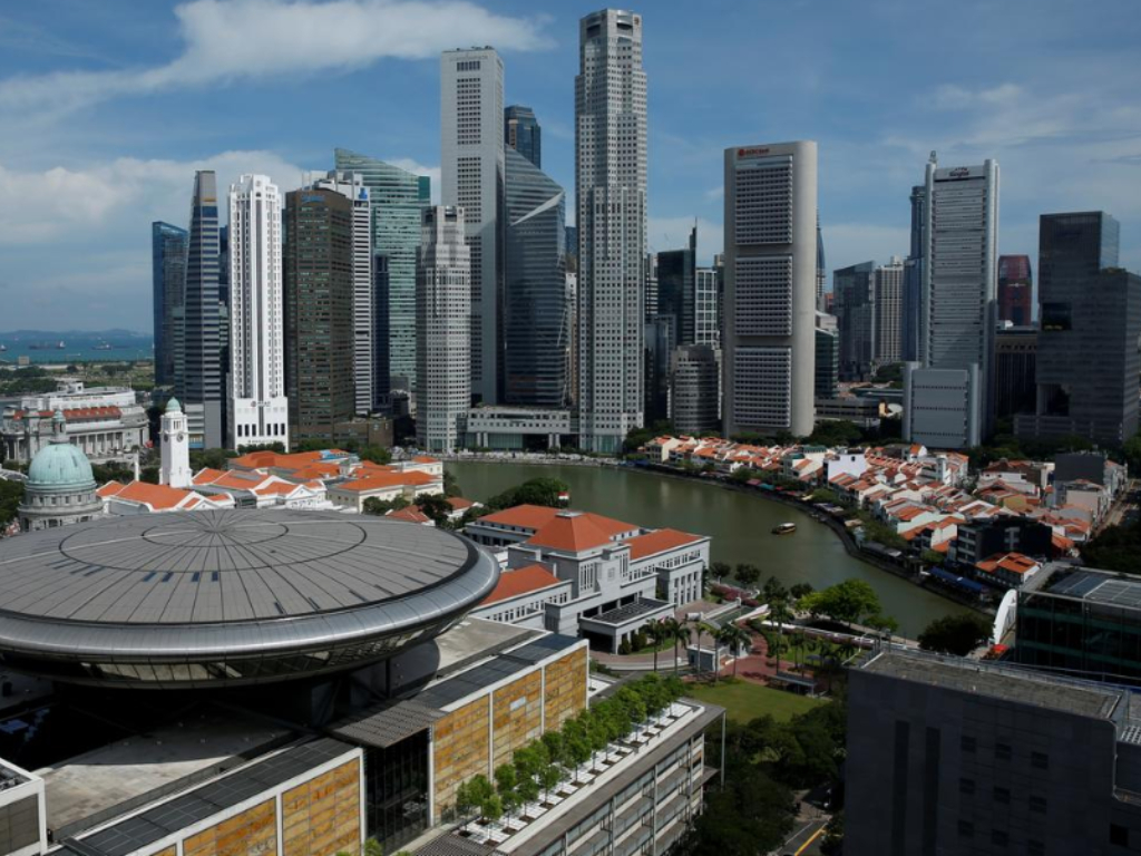 A view of the Supreme Court building against the backdrop of the skyline of Singapore's central business district May 27, 2016.