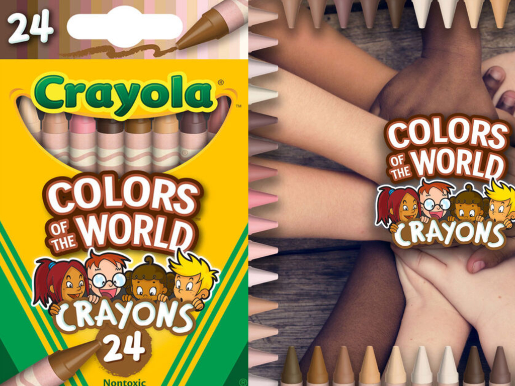 Crayola recently unveiled their new packs of crayons that represent the world's skin tones. The pack, called Colors of the World, contains 24 different skin-tone colours.