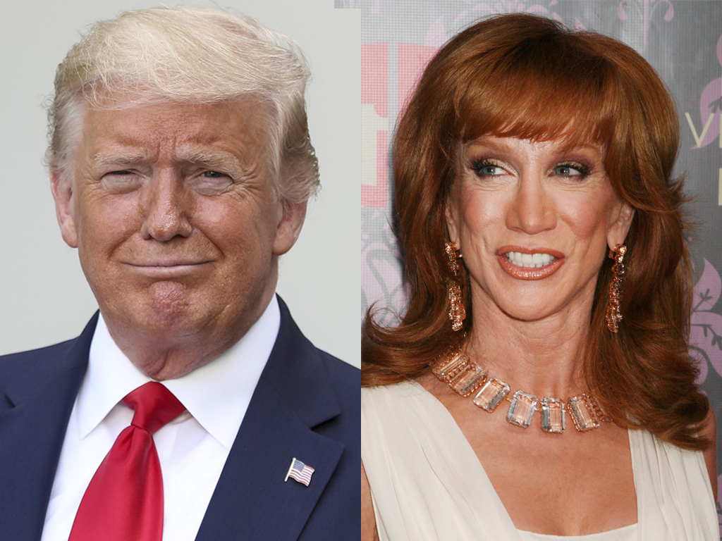 (L-R) U.S. President Donald Trump and comedian Kathy Griffin.