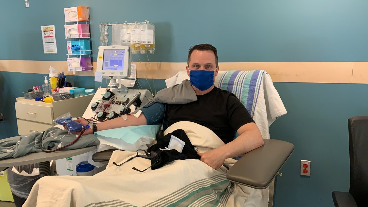 Donnie Clarke, who recovered from COVID-19,  was the first man to donate his convalescent plasma in Halifax, N.S.
