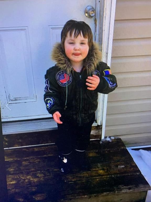 The search for a missing three-year-old boy, shown here is this undated handout image provided by the Truro police department's Facebook page, is into its second day in Truro, N.S., led by ground and air rescue teams. Truro police say the boy named Dylan disappeared Wednesday afternoon and a search began at about 1:30 p.m. with police and fire services, ground search and rescue crews and provincial emergency management involved.