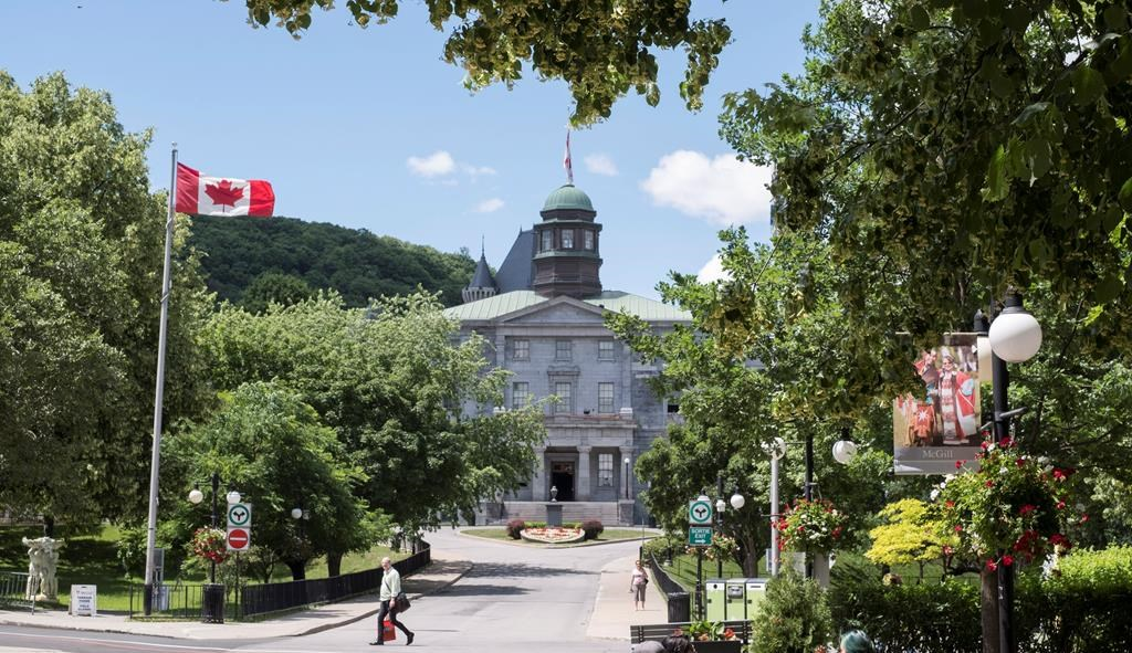 McGill University campus is seen Tuesday, June 21, 2016 in Montreal. Quebec says in-person classes in universities and CEGEPs if epidemiologic situation of the COVID-19 pandemic allows. Monday, May 31, 2021.