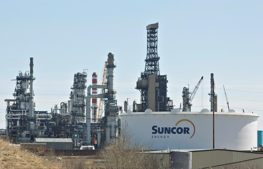 The Suncor Refinery in Edmonton is seen on Tuesday, April 29, 2014. THE CANADIAN PRESS/Jason Franson.