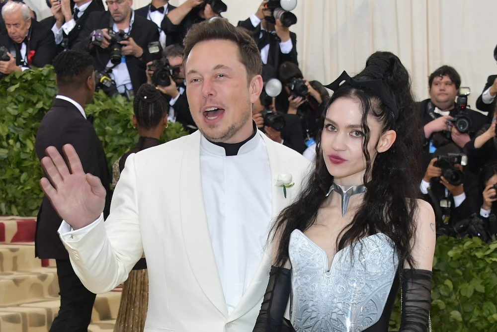 Elon Musk and Grimes attend the Met Gala on May 7, 2018 in New York City.