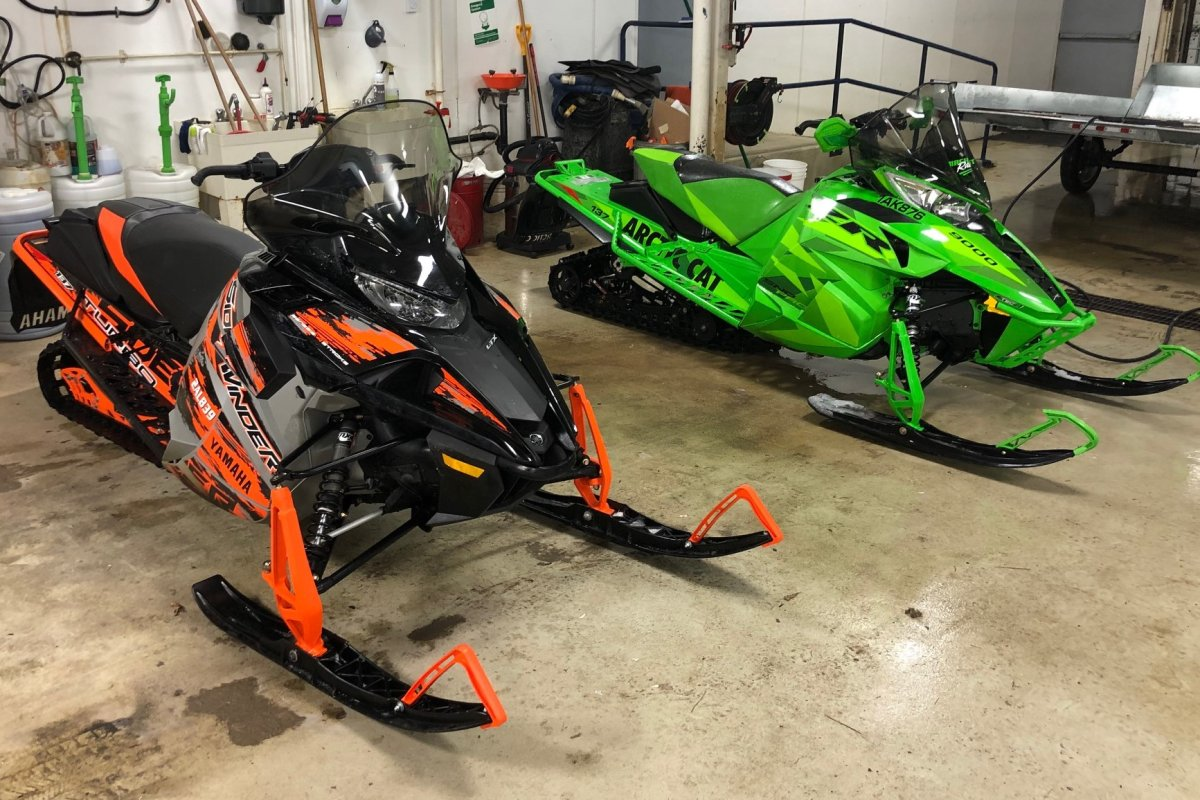 OPP are investigating the theft of two snowmobiles from a business in the City of Kawartha Lakes.