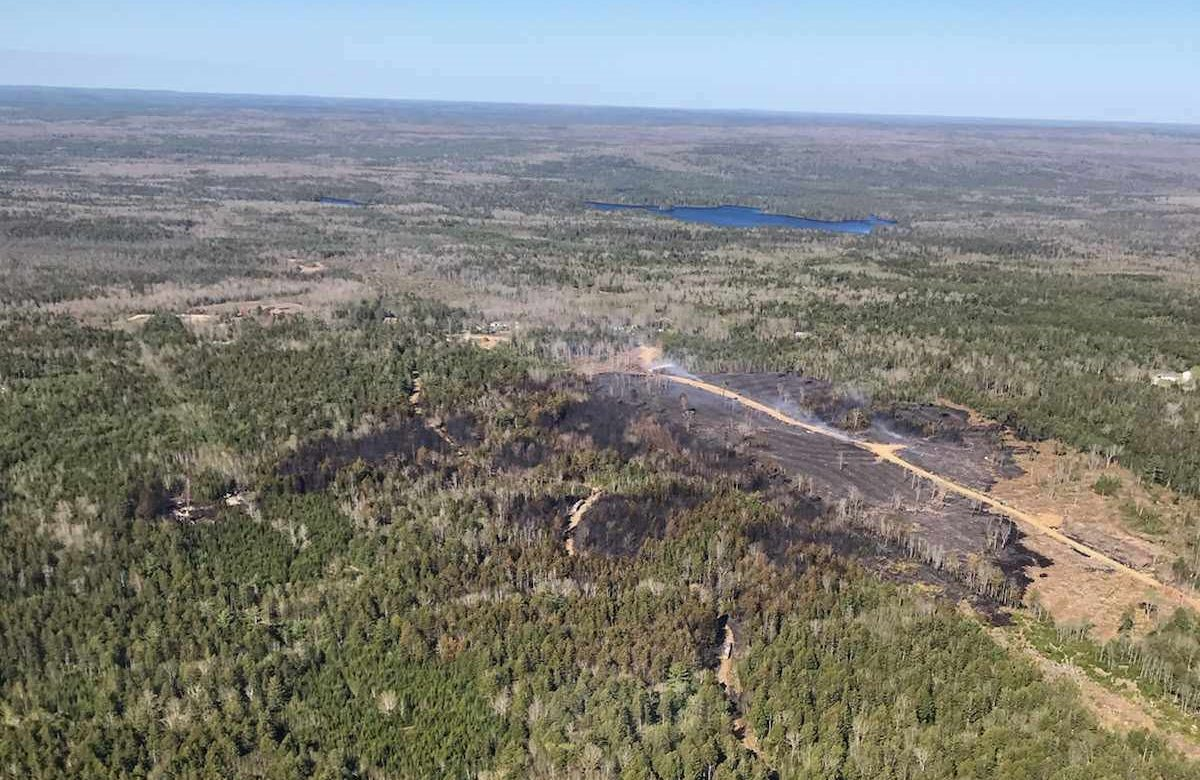 A fire near Chester Grant, N.S., has spread across an area of 27 hectares.