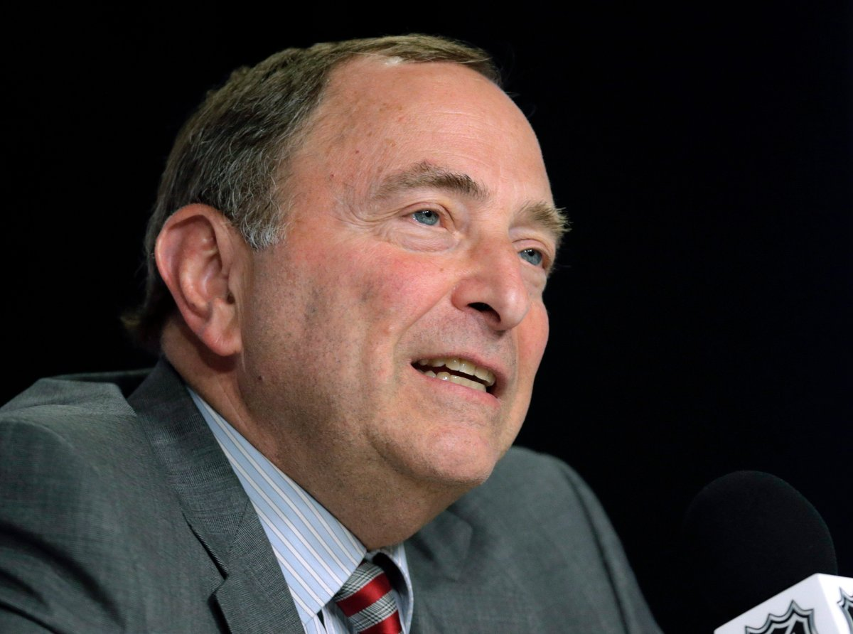 NHL Commissioner Gary Bettman outlined several key items Tuesday in the league's return-to-play plan.