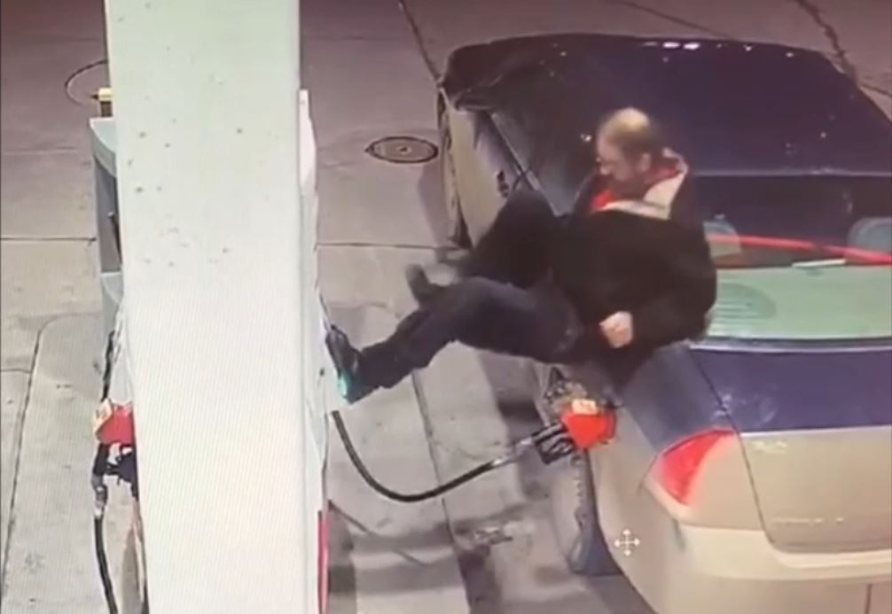 Brandon police released video of a man they would like to speak to after a violent outburst at a local gas station last month.