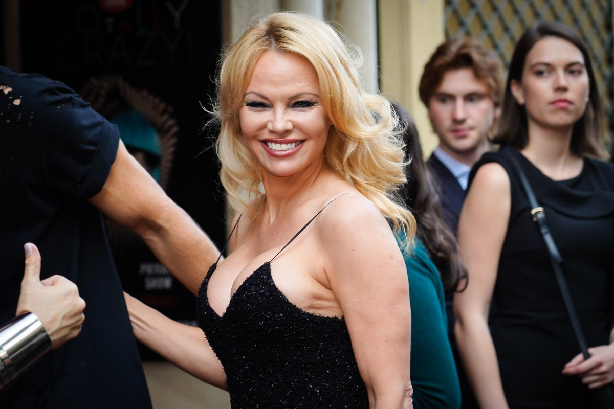Pamela Anderson attends the 'Bionic ShowGirl' premiere at Le Crazy Horse on June 3, 2019 in Paris, France.